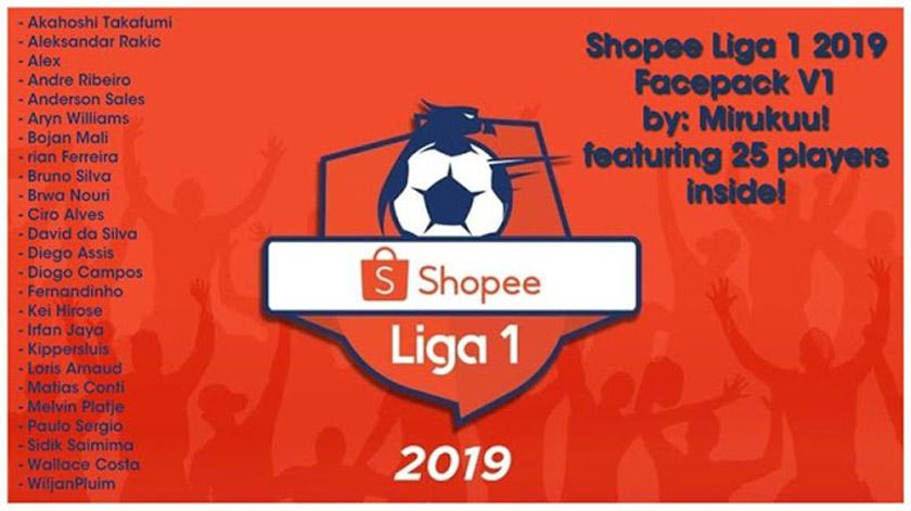 PES 2017 Facepack Shopee Liga 1 Indoneisa V9 - Kazemario