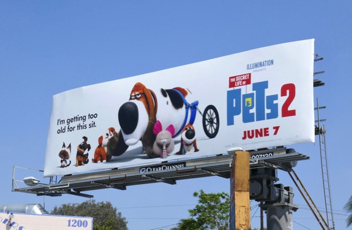 Secret Life Pets 2 too old billboard