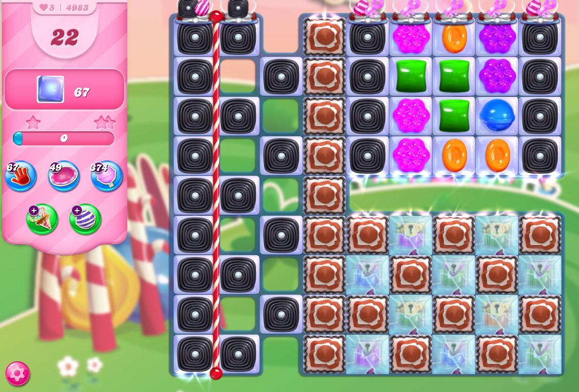 Candy Crush Saga level 4983