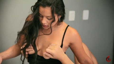 Incredibly sexy girl fucks lucky guy in the office