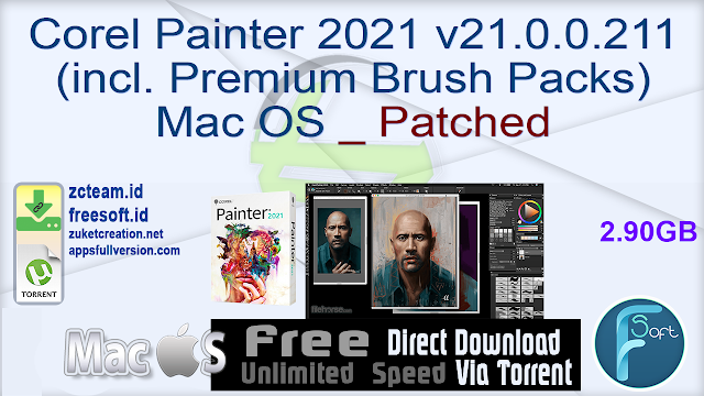 Corel Painter 2021 v21.0.0.211 (incl. Corel Premium Brush Packs) Mac OS _ Patched