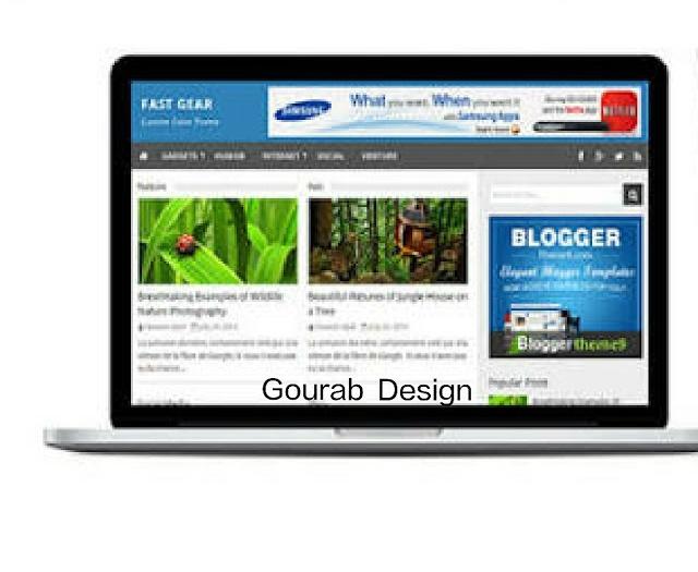 Fast gear blogger template 2018