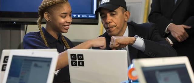 Barack Obama anuncia R$ 16 bilhões para o ensino de computação nos Estados Unidos.