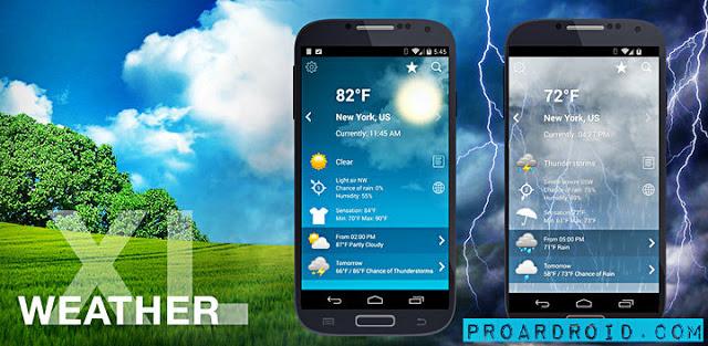 تطبيق الطقس Weather XL PRO v1.4.4.0 كامل للأندرويد مجاناً logo