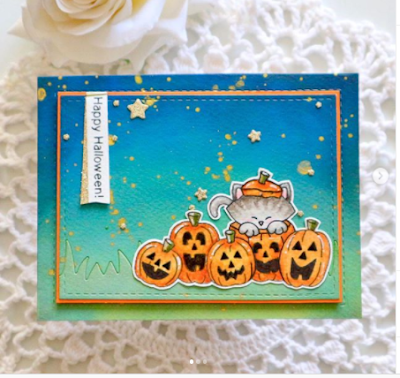 Happy Halloween by Bhavya features Newton's Boo-tiful Night by Newton's Nook Designs; #newtonsnook