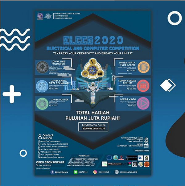 ELECTRICAL AND COMPUTER COMPETITION 2020 oleh Universitas Udayana