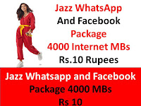 Jazz Facebook Packages, Jazz Monthly Facebook Package, Jazz Monthly Packages, Jazz Monthly Whatsapp Packages, Jazz Package, Jazz Whatsapp Packages