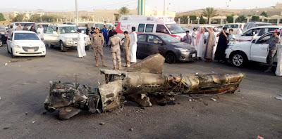 بالفيديو صاروخ الذي تم ضربة علي الرياض السعودية من قبل الحوثيين