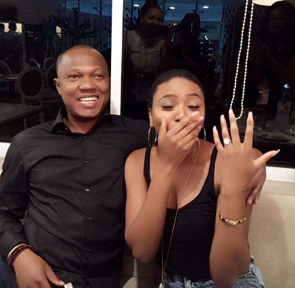TV host Stephanie Coker sheds tears of joy as she gets engaged