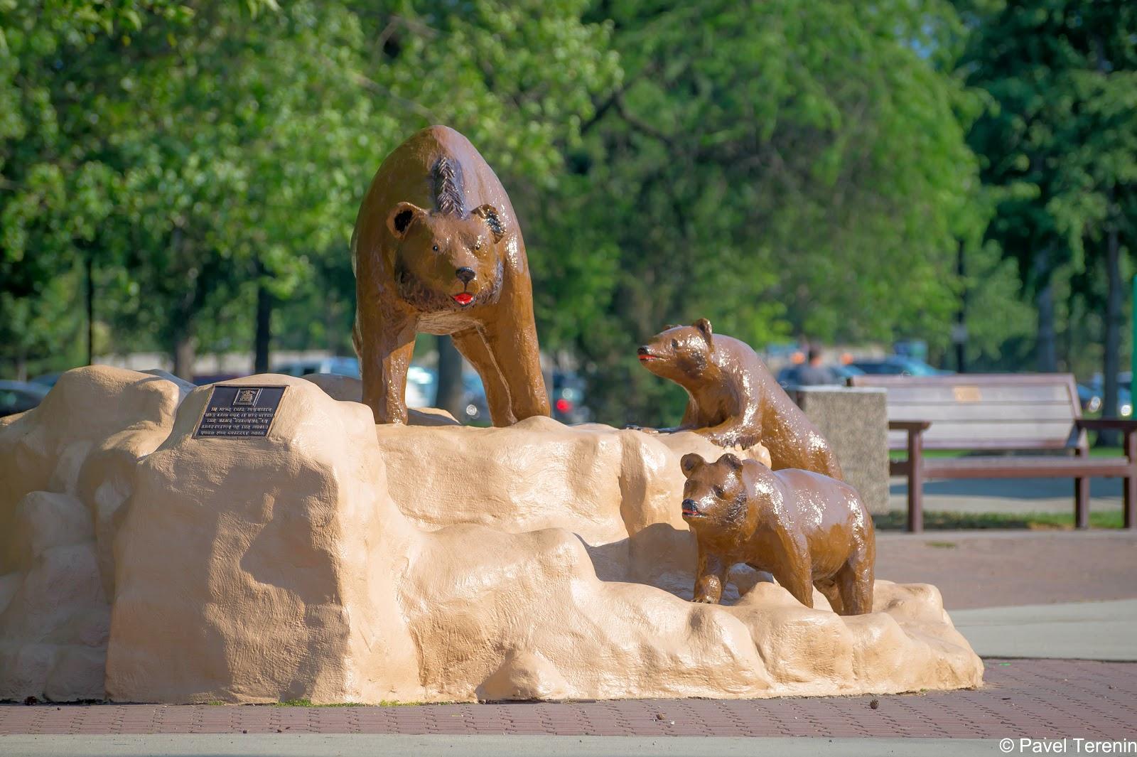 """В переводе с языка местных индейцев слово Келуона переводится как """"медведь гризли"""". А ближе к парку """"Сити"""" есть и скульптура этих самых гризли."""