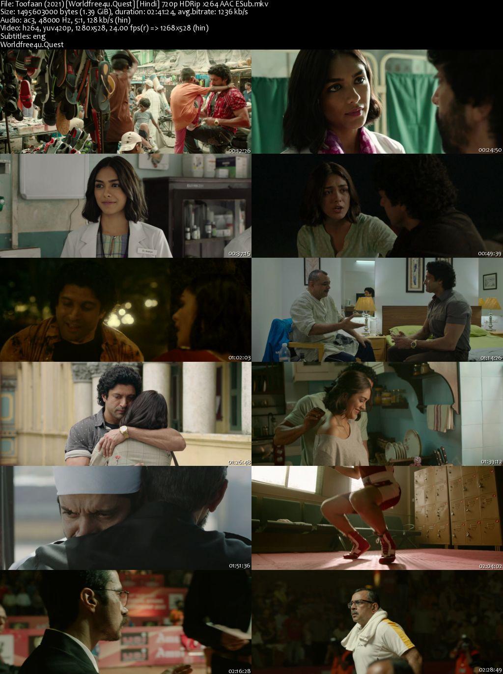 Toofaan 2021 Hindi Movie Download HDRip 720p