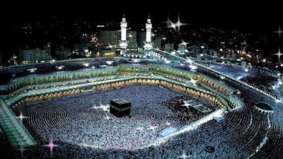 Muslims offering prayers in Mecca.