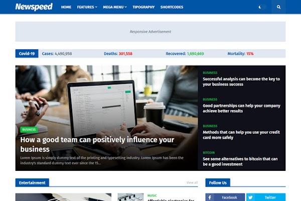 Newspeed Professional News & Magazine Blogger Template