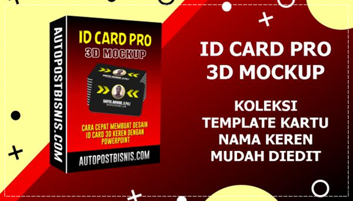 ID Card Pro 3D Mockup