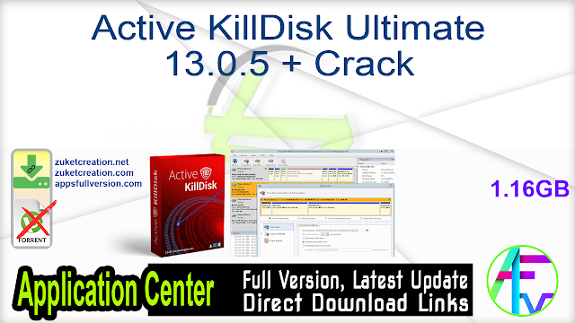Active KillDisk Ultimate 13.0.5 + Crack