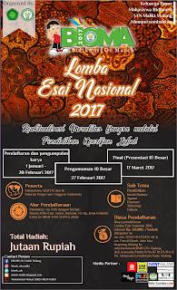 Lomba Esai Nasional KBMB UIN Maliki Malang 2017