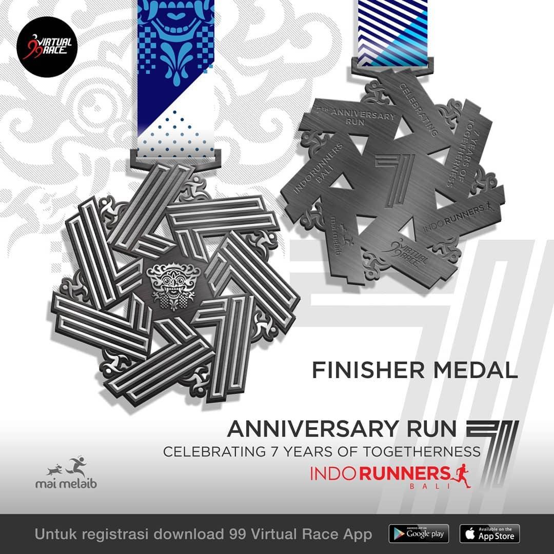 Medali - IndoRunners Bali 7th Anniversary • 2019