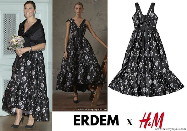 Crown Princess Victoria wore floral dress from Erdem X H&M collaboration collection