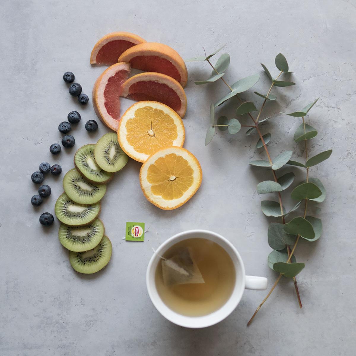 Te och frukt