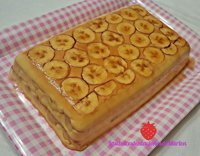 Tarta- Flan De Plátano