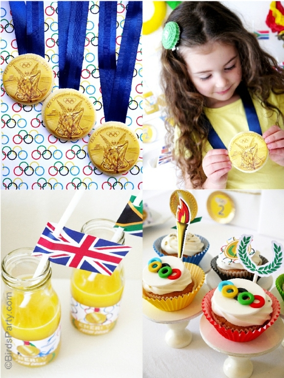 Olympics Inspired Sports Party Ideas - BirdsParty.com