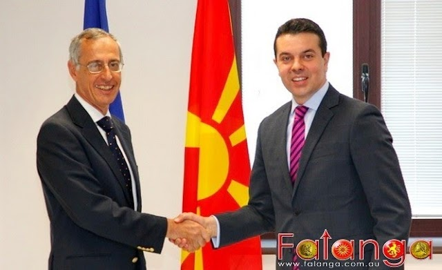 Meeting of Minister Nikola Poposki with Ambassador of the Italian Republic in the Republic of Macedonia Ernesto Massimino Bellelli