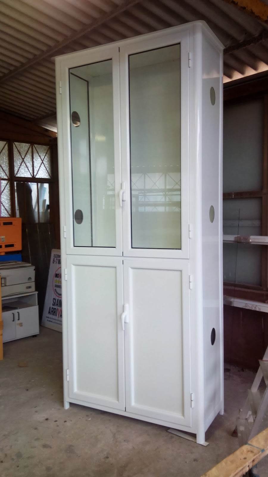 infissi in alluminio armadio per esterno