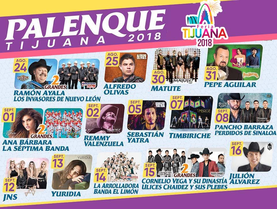 Palenque de Tijuana 2018 Cartelera