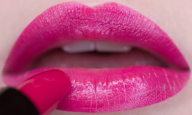 """Givenchy Rouge Interdit 23 """"Fuchsia In The-Know"""" swatches"""