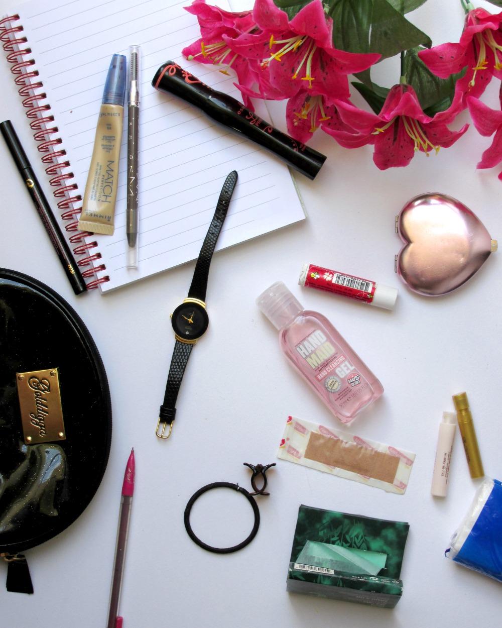 school beauty bag essentials, sixth form makeup, school makeup bag