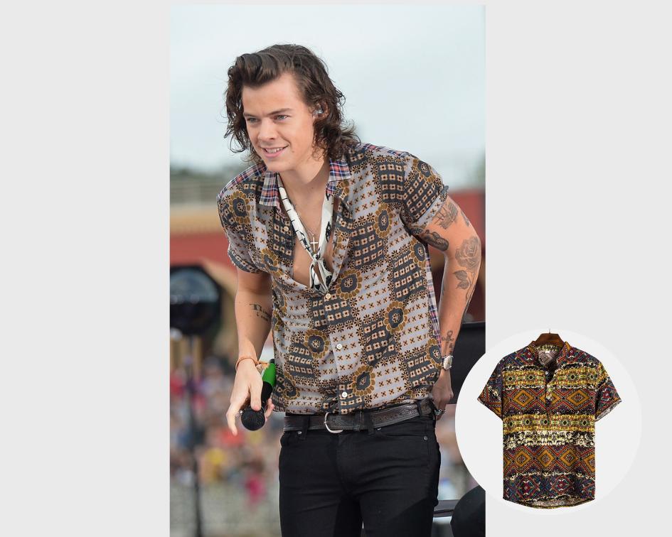 camisas estampadas harry styles