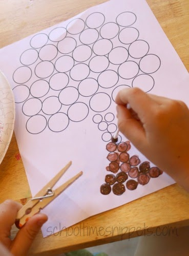 printable Do A Dot tree