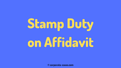 stamp duty on affidavit