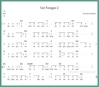 not angka lagu tari tanggai 2 lagu daerah sumatera selatan