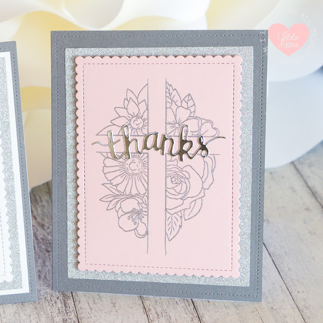 Floral Cross Religious Thank You Cards by ilovedoingallthingscrafty