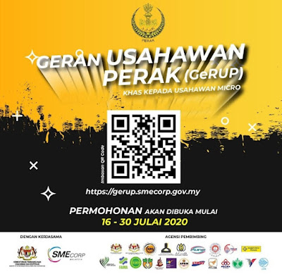 Permohonan Geran Usahawan Perak 2020 Online (GeRUP)