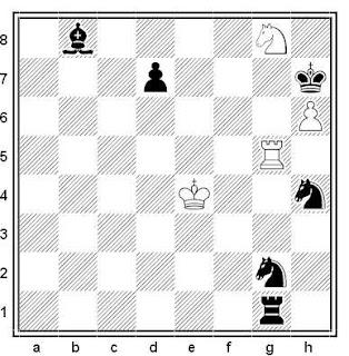 Estudio artístico de ajedrez compuesto porLeonid I. Kubbel (2º Premio, Torneo Club VZSPS 1938)