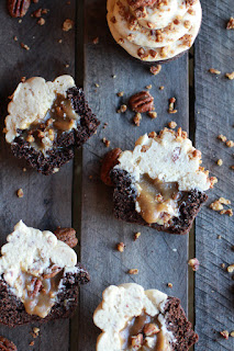 Chocolate bourbon Pecan Pie Cup Cakes With Butter Pecan Frosting