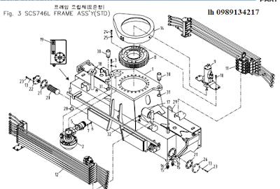 Quay toa, khung bệ của Cẩu soosan 7 tấn SCS746-SCS744