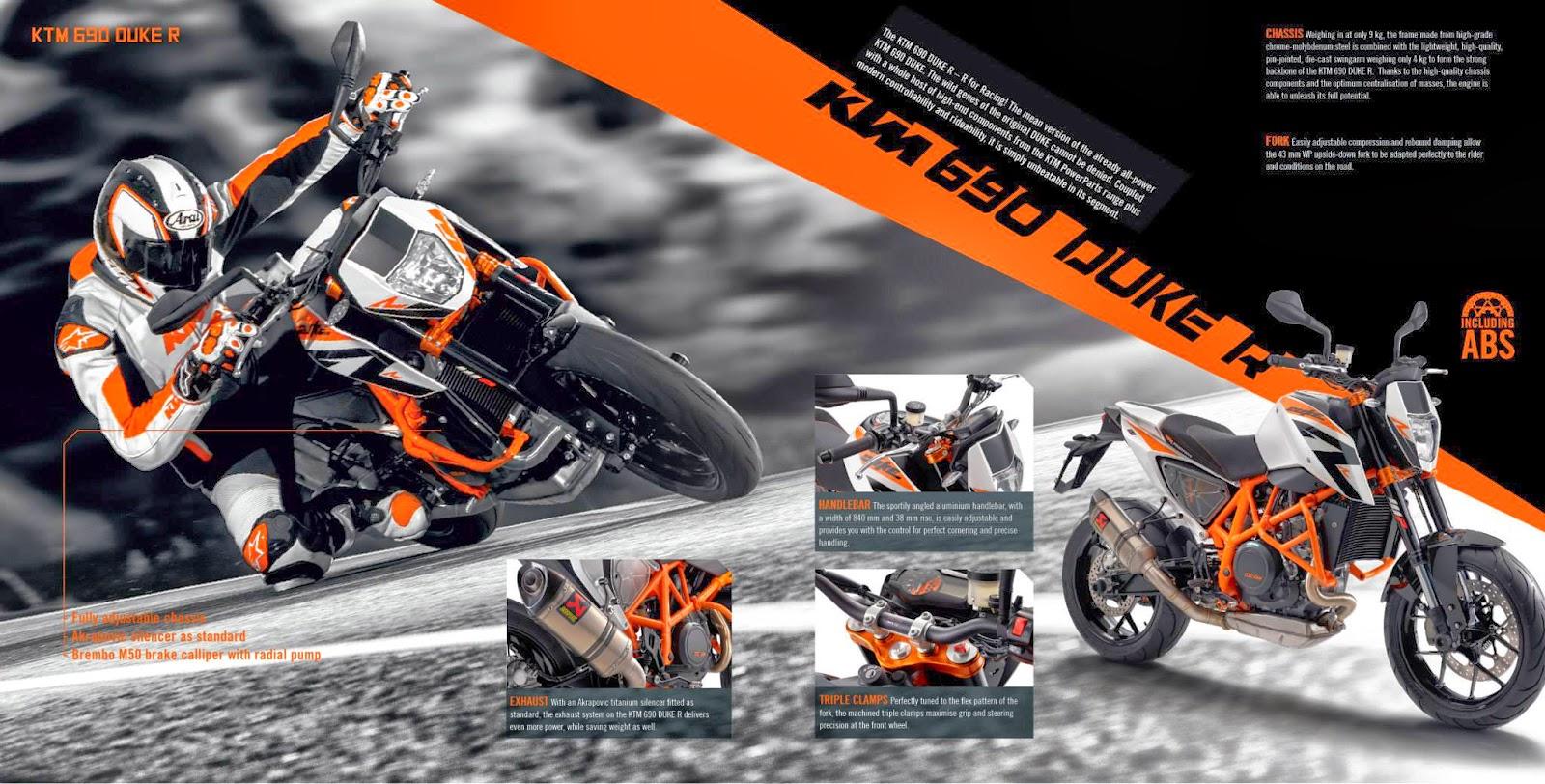 KTM DUKE 690 R 2014 - Di Reka Untuk Perlumbaan