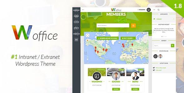 Download Woffice - Intranet/Extranet WordPress Theme gratis free