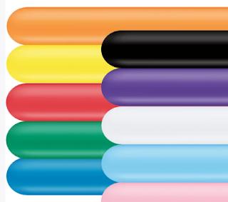 Verschiedenfarbige Modellierballons.