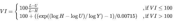 Công thức tính chỉ số độ nhớt (VI)