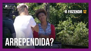 A Fazenda 12 – Lidi desabafa sobre tirar Mariano da Prova – Peões comentam sobre a indicação de Lidi