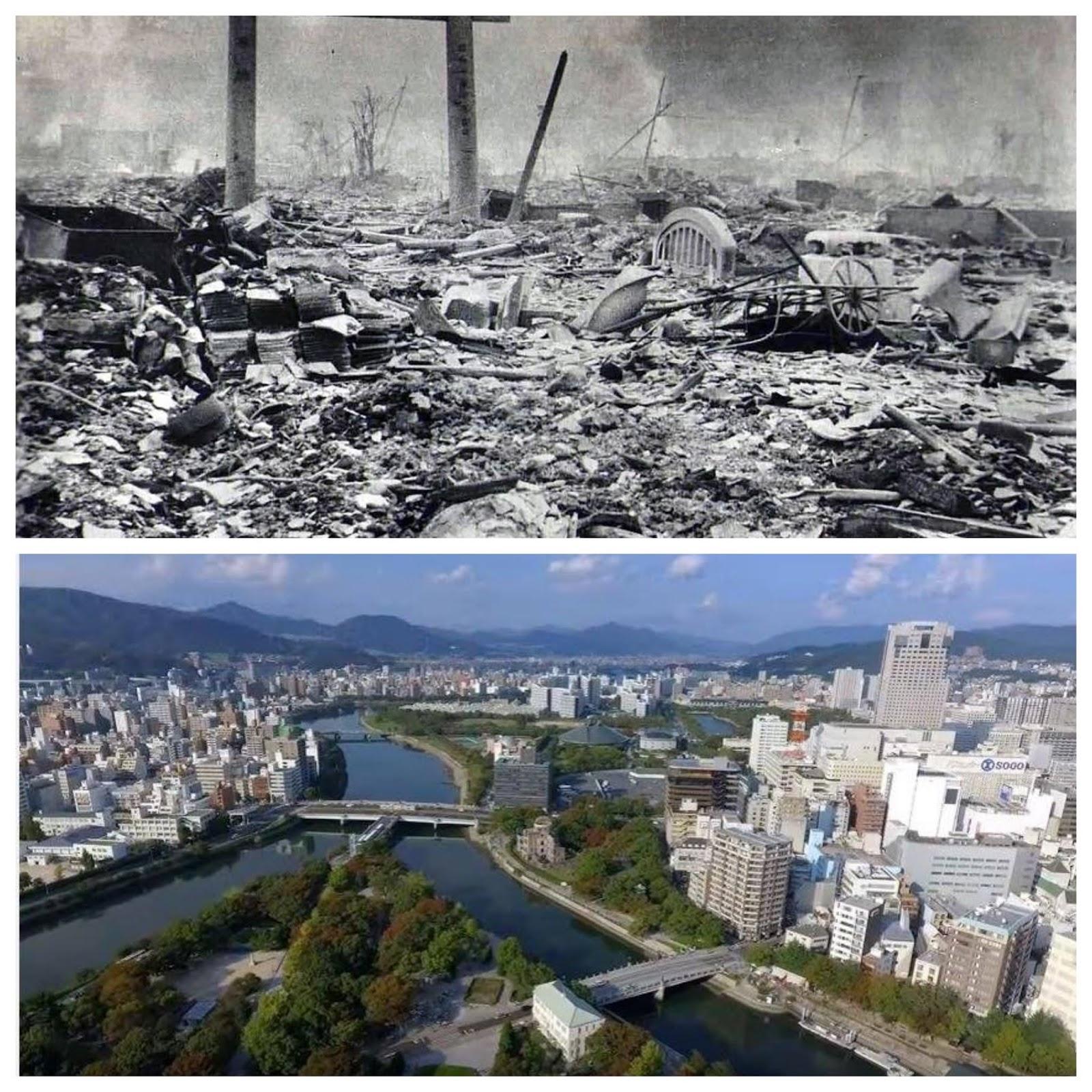 不死鳥のように蘇る日本、未来に向けて自虐からの脱出広島の被爆、復興の写真がアラビア語圏の人々を感銘させた!・・・