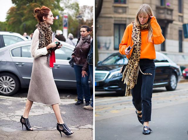Девушки в леопардовом шарфе