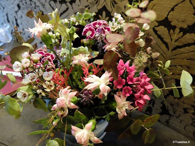 bouquet fleurs bucolique art deco hotel particulier montmartre Paris 18eme