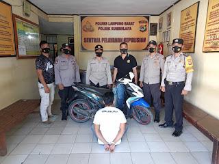 Diduga Curanmor di Pajar Bulan Warga Tanggamus Dibekuk Polisi