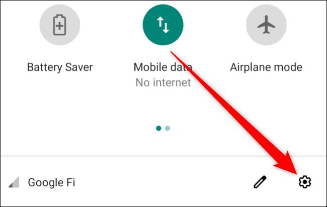 إعدادات Android المفتوحة