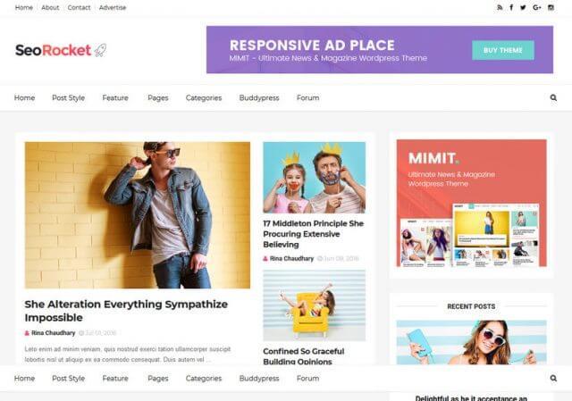 Seo Rocket Blogger Template Full Version Free Download